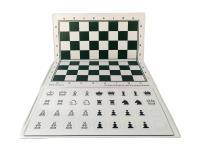 Magnetic Checkbook Chess Set - White