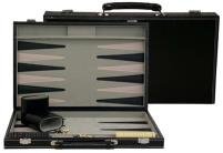 Black Leatherette Backgammon