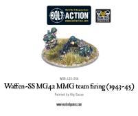 Waffen-SS MG42 MMG Team Firing
