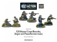 US Marine Bazooka, Sniper & Flamethrower Teams