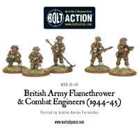 British Army Flamethrower & Combat Engineer Teams
