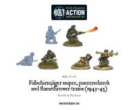 Fallschirmjager Sniper, Flame Thrower, Panzerschreck Teams (1943-45)
