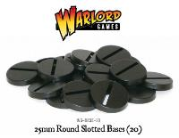 25mm Round Slotted Bases (20)