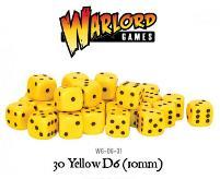 D6 10mm Yellow w/Black (30)
