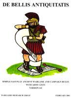 De Bellis Antiquitatis - Wargames Rules for Ancient and Medieval Battles (Version 2.0)