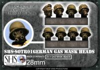 German Gas Mask Heads