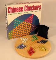 Chinese Checkers w/Wood Board and Marbles