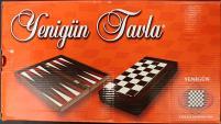 """15"""" Flower Decoupage Backgammon & Chess Board"""