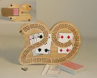 29 Shaped Cribbage Board