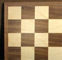 "15"" Walnut/Maple Chessboard w/1.75"" Squares"