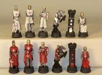 "3.25"" Crusades Chessmen (Hand Painted Resin)"