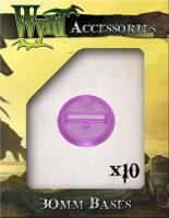 30mm Translucent Bases - Purple