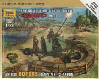 British Bofors 40mm MK-I/2 AA-Gun