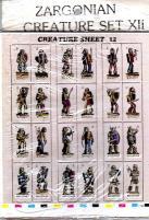 Zargonian Creature Set #12 - Bandits & Berserkers (72)
