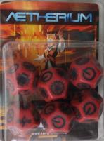 Dice Set - Red w/Black (6)