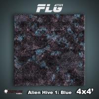 4' x 4' - Alien Hive, Blue