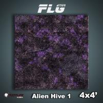 4' x 4' - Alien Hive, Purple