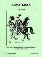 Army Lists - 1420-1700