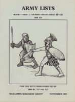 Army Lists #3 - Armies Originating After 1000 AD