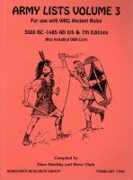Army Lists Vol. 3 - Mediterranean & India