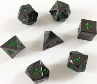 Poly Set - Black w/Green (7)