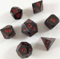 Poly Set - Black w/Red (7)