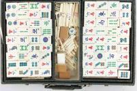 Bone & Bamboo Mahjong w/Fabric Case