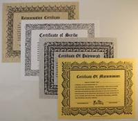 Certificate Collection - 4 Certificates