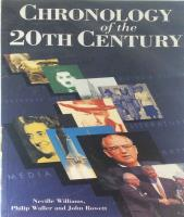 Chronology of the 20th Century