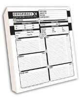 Character and Cell Record Sheet Pad