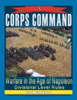 Corps Command - Warfare in the Age of Napoleon, Divisional Level Rules (3rd Edition)