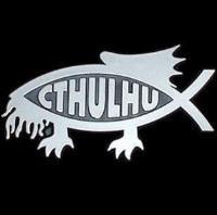 Cthulhu Fish Bumper Decal