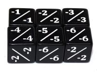D6 Counter Dice - Black (6)