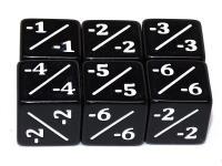 D6 Counter Dice - Black (6)