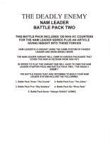 The Deadly Enemy - Nam Leader Battle Pack 2