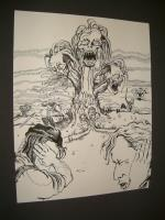 "#3 - Demonic Women - 11"" x 13"" Original Ink"