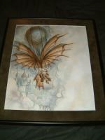 """TSR Planescape - Planewalker's Handbook - Balloon Rider - 10"""" x 13"""" Original Watercolor"""