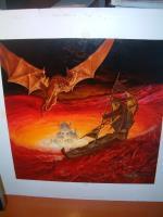 "TSR Dragonlance - Dragons of Faith - 19"" x 19"" Original Art"