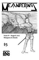 Issue #1 - Weapons & Deeds