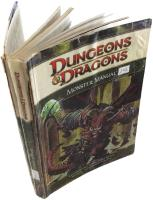 4th Edition Monster Manual Lot - 2 Books Re-bound in 1 Volume