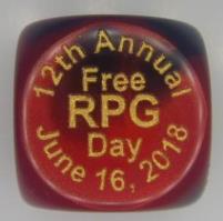 D6 2018 Free RPG Day Die