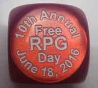 d6 2016 Free RPG Day Die