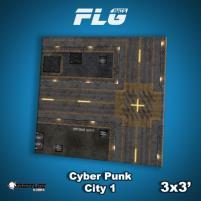 3' x 3' - Cyberpunk City #1