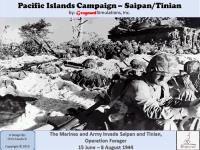 Pacific Islands Campaign - Saipan/Tinian