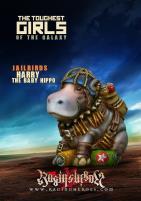 Harry the Baby Hippo - Jailbirds Mascot (Science Fiction)
