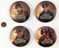 Heroes of Normandie Button Set