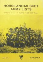Horse and Musket Army Lists