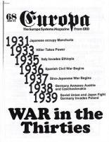 "#68 ""War in the Thirties, Still Tolls the Bells, War Begins in Europe"""