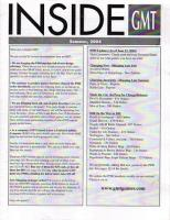 Inside GMT - Summer 2004