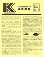 """Vol. 25, #4 """"3R Notes, The Russian Campaign, Anniversary Hellos"""""""